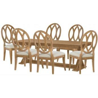 Legacy Rachael Ray Everyday 7 Piece Trestle Dining Room Set in Nutmeg