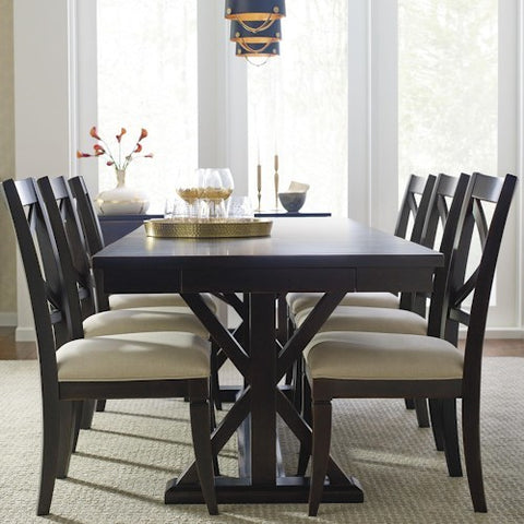 Legacy Rachael Ray Everyday 7 Piece Trestle Dining Room Set in Peppercorn