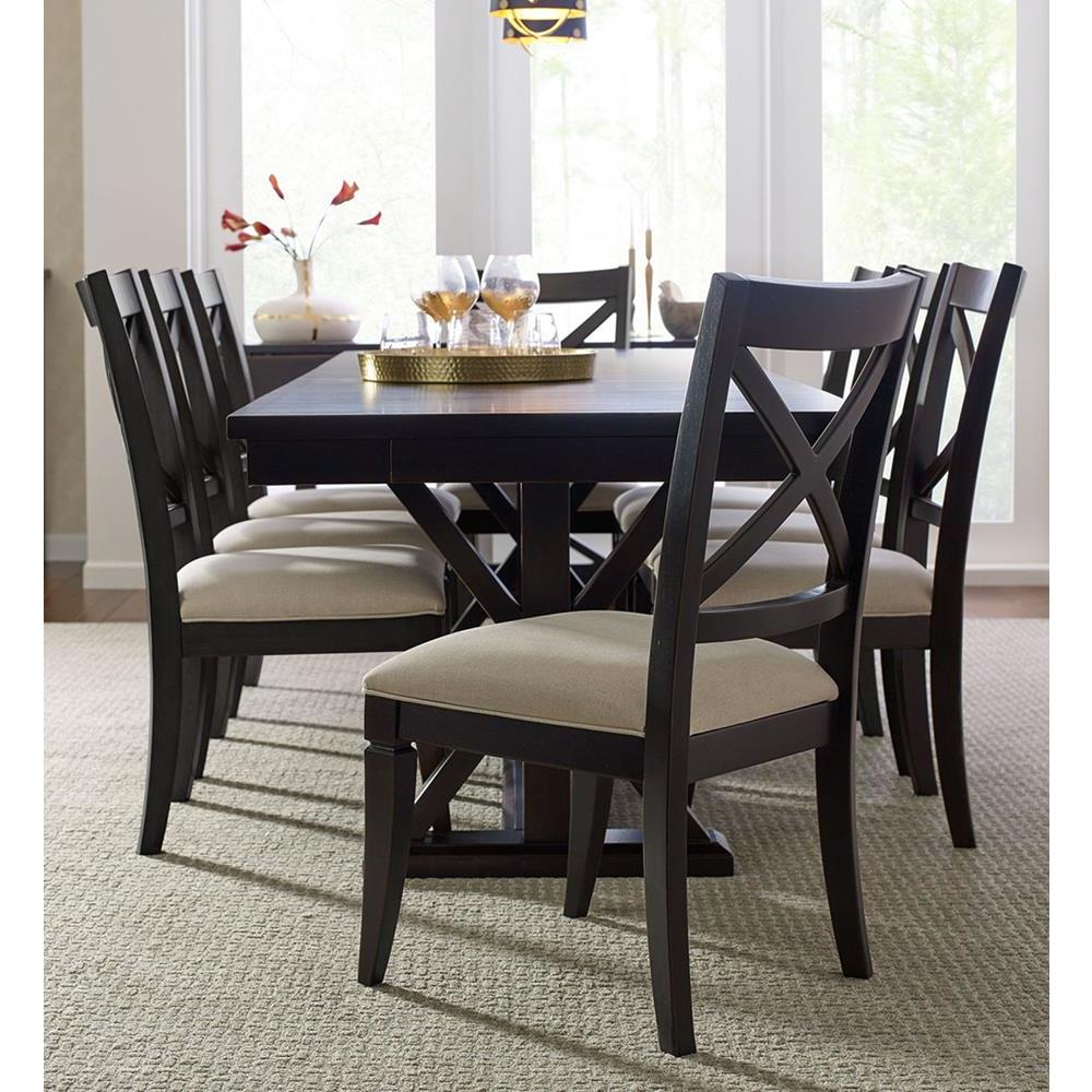 Phenomenal Legacy Rachael Ray Everyday 9 Piece Trestle Dining Room Set In Peppercorn Bralicious Painted Fabric Chair Ideas Braliciousco
