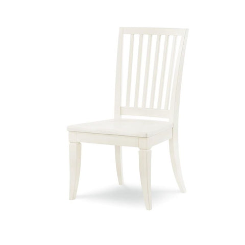 Legacy Rachael Ray Everyday Slat Back Side Chair in Sea Salt
