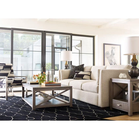Legacy Rachael Ray High Line 3 Piece Coffee Table Set w/End Tables in Soothing Greige