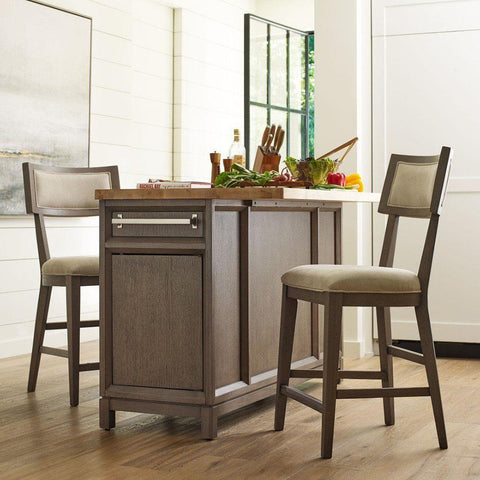 Legacy Rachael Ray High Line 3 Piece Kitchen Island Set in Soothing Greige