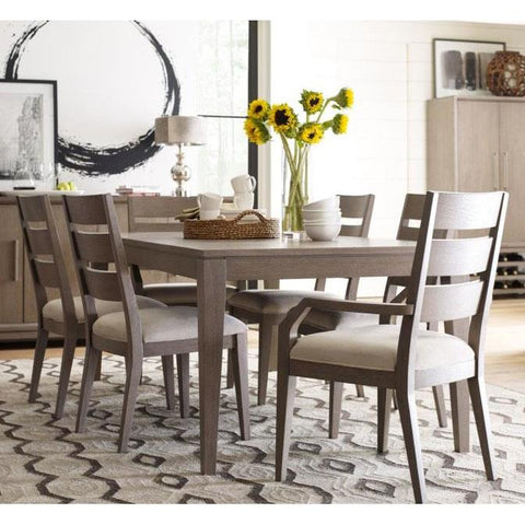 Legacy Rachael Ray High Line 7 Piece Leg Dinng Room Set in Soothing Greige