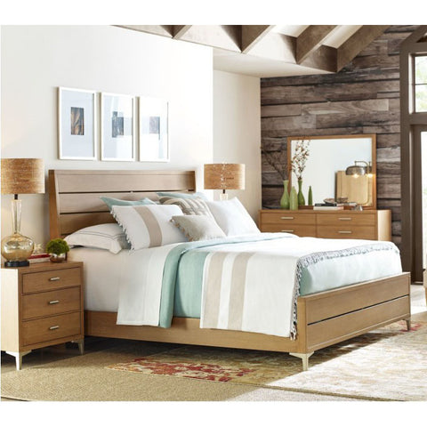 Legacy Rachael Ray Hygge 4 Piece Ladder Back Bedroom Set in Cashmere