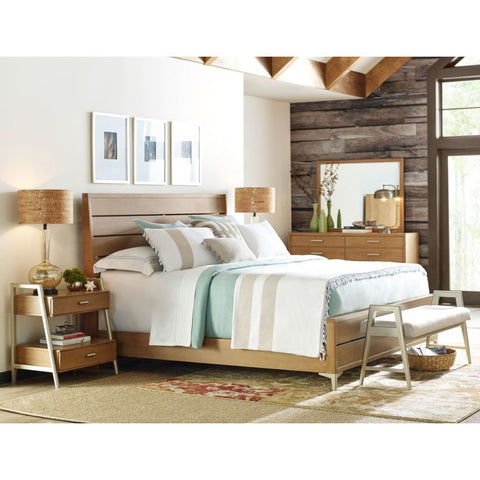 Legacy Rachael Ray Hygge 5 Piece Ladder Back Bedroom Set in Cashmere