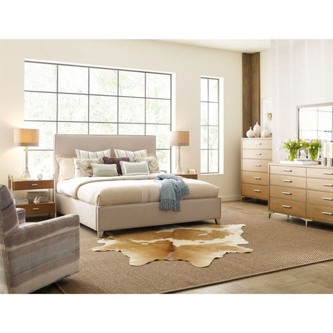 Legacy Rachael Ray Hygge 5 Piece Upholstered Bedroom Set in Cashmere