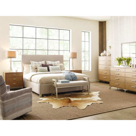 Legacy Rachael Ray Hygge 6 Piece Upholstered Bedroom Set w/Bench in Cashmere