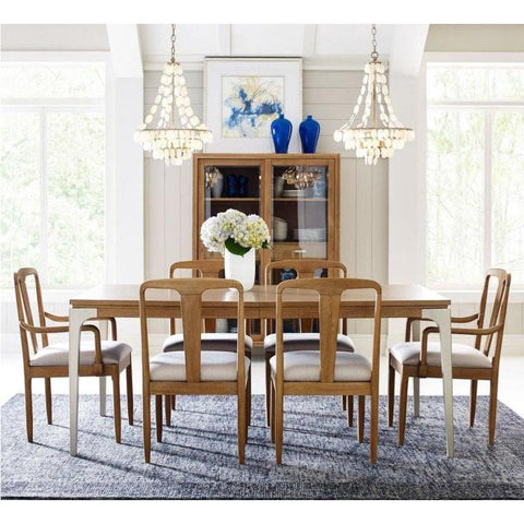 Legacy Rachael Ray Hygge 8 Piece Leg Dining Room Set in Cashmere