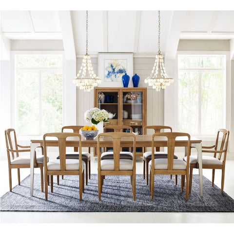 Legacy Rachael Ray Hygge 9 Piece Leg Dining Room Set in Cashmere