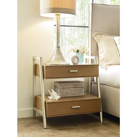 Legacy Rachael Ray Hygge Leg Nightstand in Cashmere