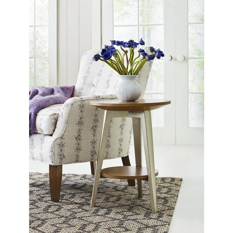 Legacy Rachael Ray Hygge Round End Table in Cashmere