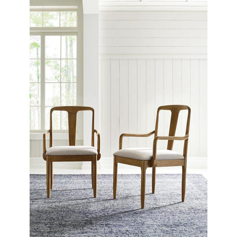 Legacy Rachael Ray Hygge Splat Back Arm Chair in Cashmere