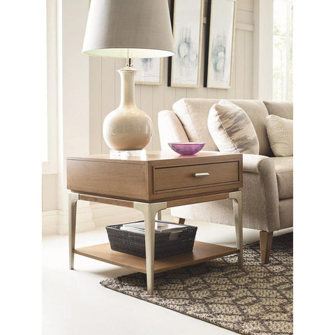 Legacy Rachael Ray Hygge Square End Table in Cashmere