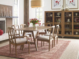 Legacy Rachael Ray Hygge 7 Piece Trestle Dining Room Set w/Upholstered Chairs in Cashmere