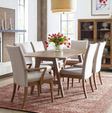 Legacy Rachael Ray Hygge Trestle Dining Table in Cashmere