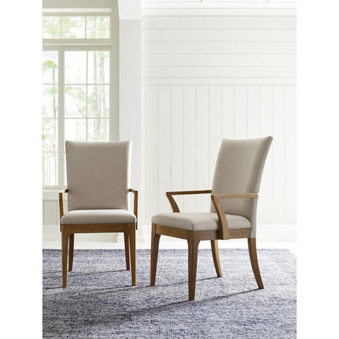 Legacy Rachael Ray Hygge Upholstered Back Arm Chair in Cashmere
