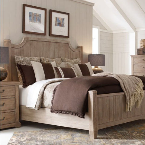 Legacy Rachael Ray Monteverdi 2 Piece Low Post Bedroom Set in Sun-Bleached Cypress