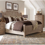 Legacy Rachael Ray Monteverdi 3 Piece Low Post Bedroom Set in Sun-Bleached Cypress