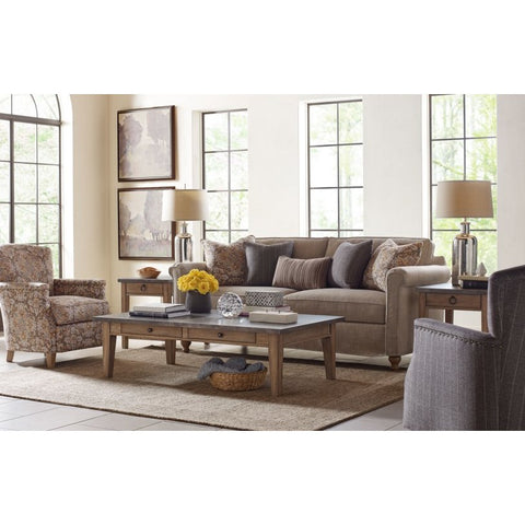 Legacy Rachael Ray Monteverdi 3 Piece Metal Top Coffee Table Set in Sun-Bleached Cypress