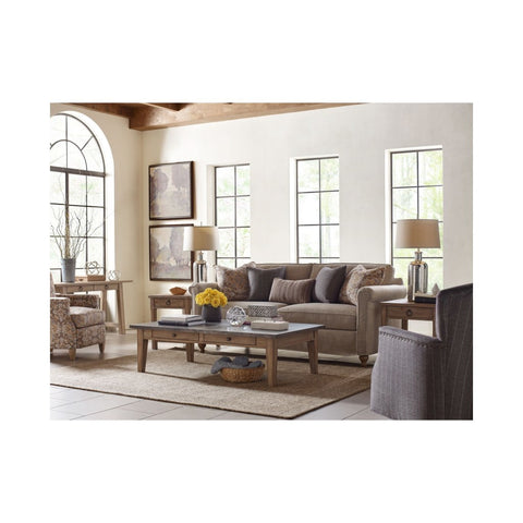 Legacy Rachael Ray Monteverdi 4 Piece Metal Top Coffee Table Set in Sun-Bleached Cypress