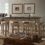 Legacy Rachael Ray Monteverdi 7 Piece Pub Table Set in Sun-Bleached Cypress