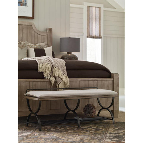 Legacy Rachael Ray Monteverdi Bed Bench/Luggage Rack in Sun-Bleached Cypress