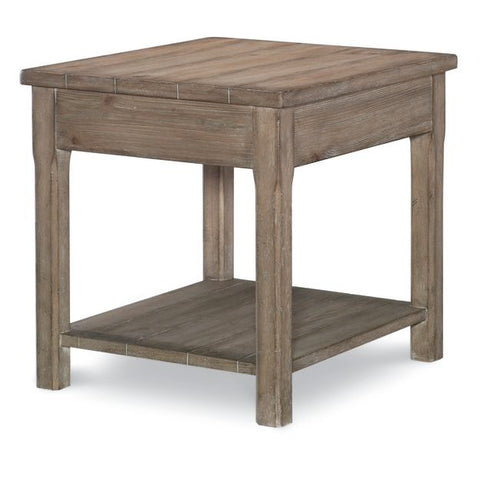 Legacy Rachael Ray Monteverdi End Table in Sun-Bleached Cypress