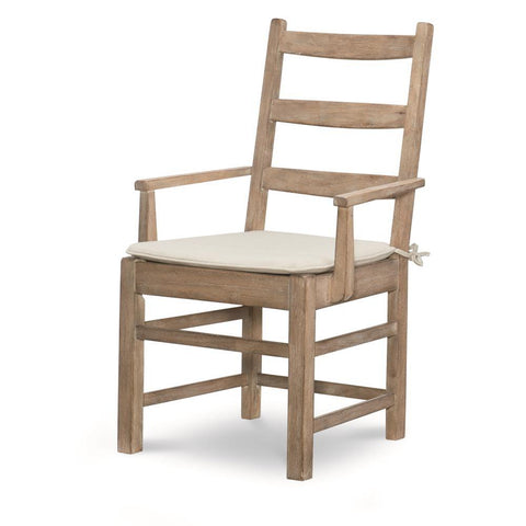 Legacy Rachael Ray Monteverdi Ladder Back Arm Chair in Sun-Bleached Cypress