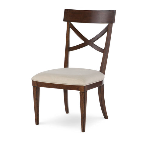 Legacy Rachael Ray Upstate X-Back Side Chair in Conciare Cherry