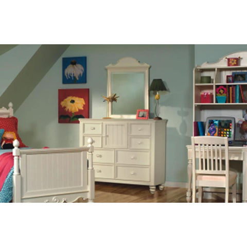Legacy Summer Breeze 8 Drawer Bureau With Door In Off White