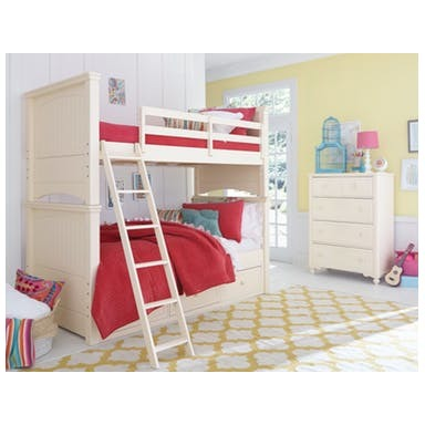 Legacy Summerset 2 Piece White Twin over Twin Bunk Bedroom Set