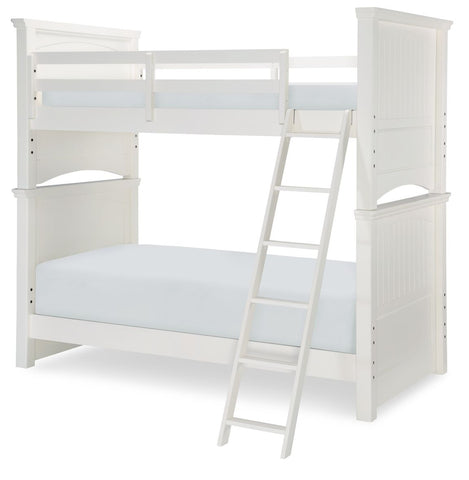 Legacy Summerset 4 Piece White Twin over Twin Bunk Bedroom Set