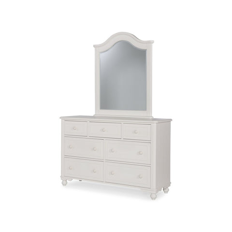 Legacy Summerset White Dresser w/Vertical Mirror