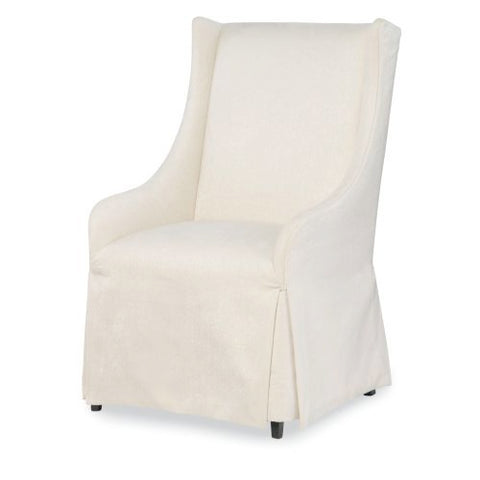 Legacy Symphony Upholstered Host Chair in Platinum & Black