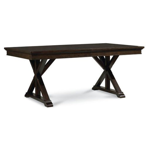 Legacy Thatcher Trestle Dining Table in Amber