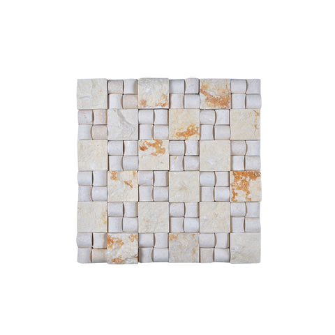 Legion Furniture MS07 Mosaic With Stone In Beige, Off White