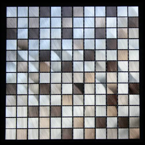 Legion Furniture MS13 Aluminum Tile In Silver & Brown