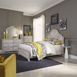 Liberty Amelia Court King Panel Bed, Dresser & Mirror, Chest
