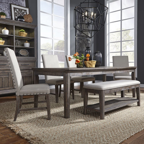 Liberty Artisan Prairie 6 Piece Rectangular Table Set
