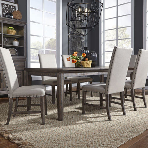 Liberty Artisan Prairie 7 Piece Rectangular Table Set