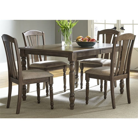 Liberty Candlewood 5 Piece Rectangular Dining Set In Weather Gray