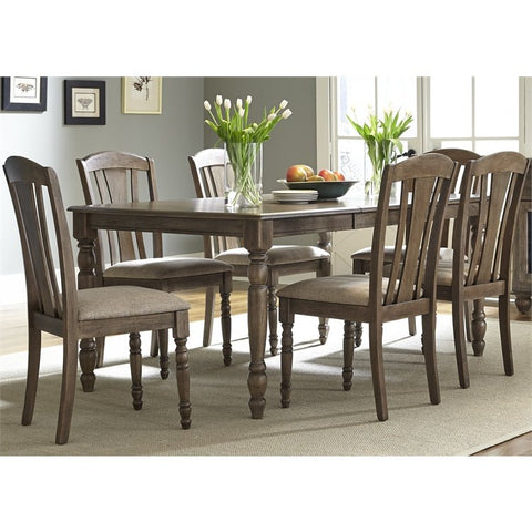 Liberty Candlewood 7 Piece Rectangular Dining Set In Weather Gray