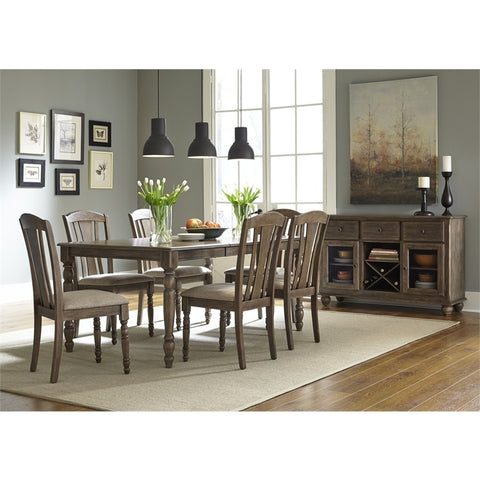 Liberty Candlewood Eight Piece Dining Set In Weather Gray