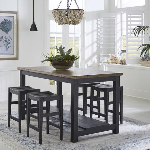 Liberty Color Nook - Black 5 Piece Gathering Table Set