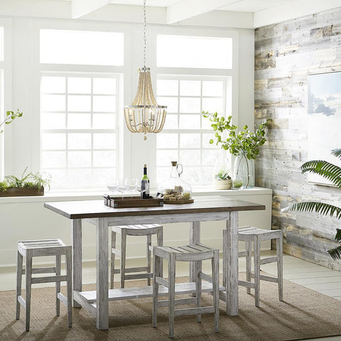 Liberty Color Nook - White 5 Piece Gathering Table Set