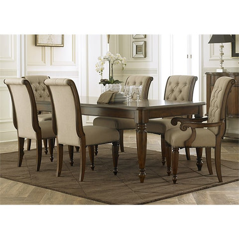 Liberty Cotswold 7 Piece Rectangular Dining Set In Cinnamon
