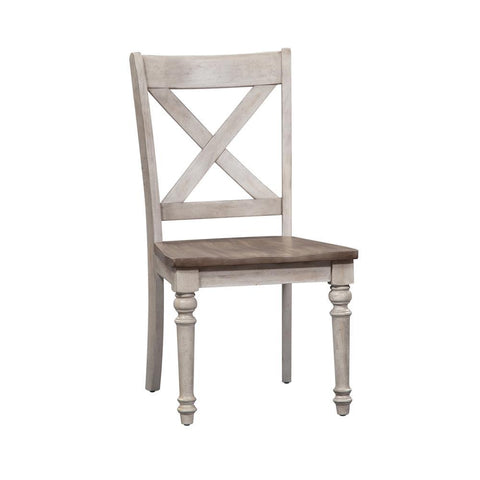 Liberty Cottage Lane X Back Wood Seat Side Chair