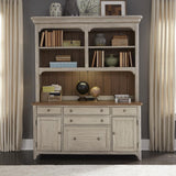 Liberty Farmhouse Reimagined 3 Piece Desk & Hutch Set