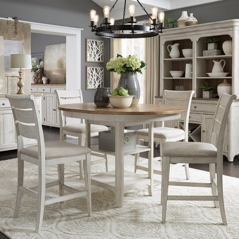 Liberty Farmhouse Reimagined 5 Piece Gathering Table Set
