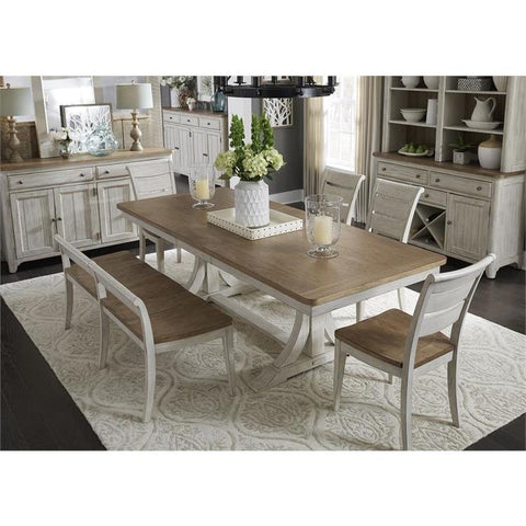 Liberty Farmhouse Reimagined 6 Piece Trestle Set